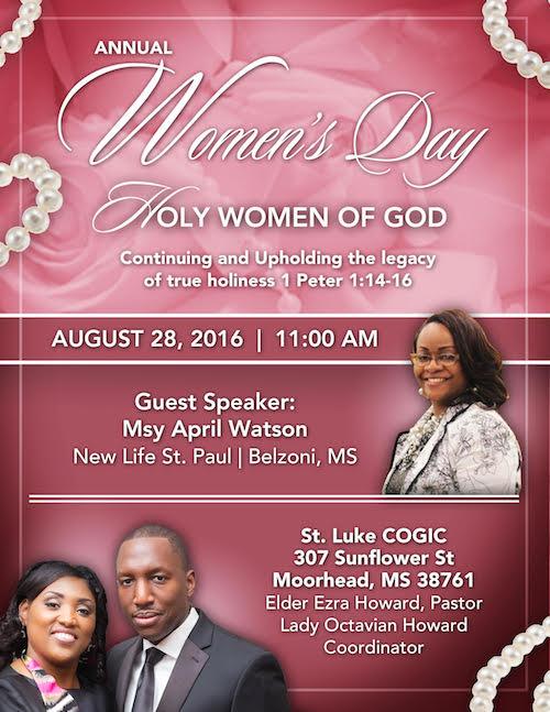 Annual Women's Day | St  Luke COGIC